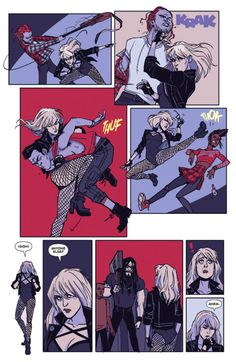 Official art from Black Canary Post-Convergence