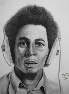 bob marley drawing by me