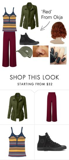 """""""Red."""" by alessiabazzurro on Polyvore featuring LE3NO, Roland Mouret and RVCA"""