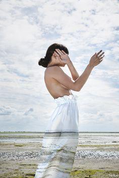 Fashion Design: Elsien Gringhuis BLENDSCAPES Moss Skirt  Photography: Tse Kao Model: Kelly Noa Estelle Concept: Elsien Gringhuis & Tse Kao