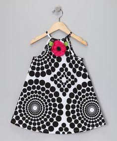 B & W Rose Swing Dress