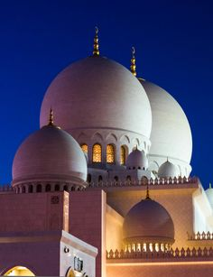 The Sheikh Zayed Grand Mosque, Abu Dhabi Roof, Dachform