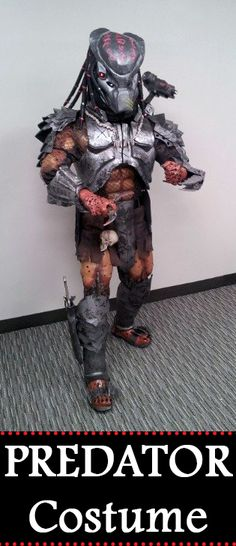 The Predator Costume: I hope everyone enjoys this costume as much as I did! Predator Costume, Predator Helmet, Alien Vs Predator, Halloween 2016, Halloween Costumes, Halloween Ideas, Sci Fi, Xenomorph, Cosplay