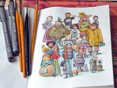 Lápis, canetinhas, aquarelas e muito talento
