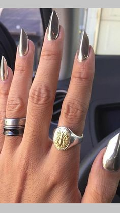 Sexy Nails, Stiletto Nails, Coffin Shape Nails, Nails Shape, Edge Nails, Nail Jewels, Claw Nails, Modern Nails, Nail Forms