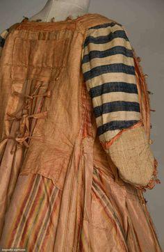 Inside of 18thC robe francaise