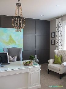 home office makeover reveal, craft rooms, home decor, home office