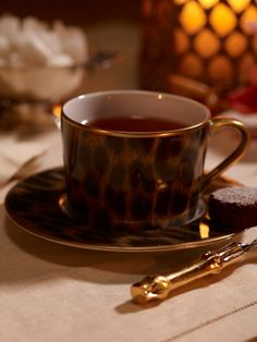 I really love this elegant leopard print cup and saucer.
