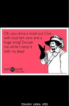 Jeep Wrangler meme ... f your rice burner