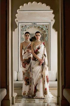 Udaipur floral printed georgette sarees
