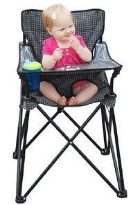 Portable baby high chair, this would be so nice for lake or camping!