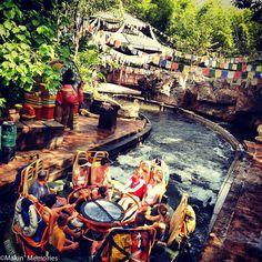Rafting along the Chakranadi River at Kali River Rapids http://#disney http://#imagineering