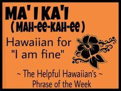 Hawaiian Phrase of the Week Hawaiian Words And Meanings, Hawaiian Phrases, Hawaiian Quotes, Aloha Hawaii, Hawaii Life, Hawaii Vacation, Hawaii Travel, All About Hawaii, Moving To Hawaii