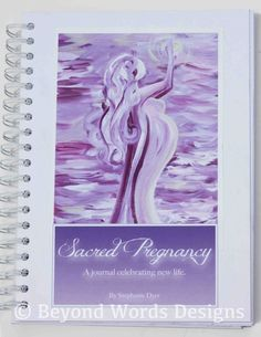 Love this pic-could you diy something likethis? Either by painting or a photog app or something?Sacred Pregnancy, Diary, Pregnancy Journal, Scrapbook, Wire Bound Guided Journal, Baby Shower Gift, Blessingway Gift