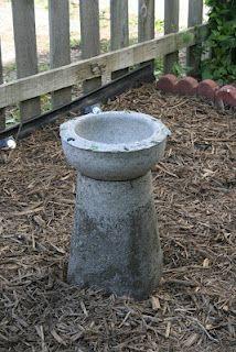 DIY Concrete Bird Bath for Under Ten Bucks