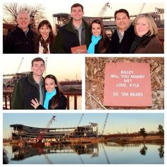 """Cute proposal!! // """"Helping to build #Baylor's new McLane Stadium one brick at a time! #Engaged"""" (via kooziekennedy on Twitter) #SicEm"""