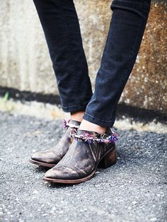 FREEBIRD by STEVEN Melly Ankle Boot at Free People Clothing Boutique. I WOULD NEVER WEAR THESE BUT THEY'RE CUTE.