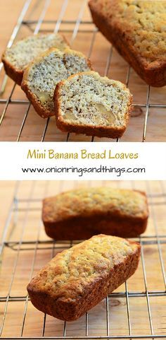 Moist, golden and delicious, these mini banana bread loaves are perfect with your morning coffee or any time snacking; Perfect for gift-giving, too!