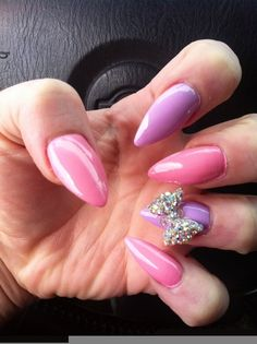 When I wear purple and pink together it evokes memories of girly childhood, but it's important to keep the combination on a more adult level. That makes purple and pink on your nails the perfect choice. The best part is you can mix and match which color is the statement nail, or you can even try an ombre or French manicure look with the two colors.