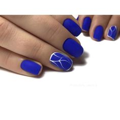 90+ Inspirational Blue Nail Art Designs and Ideas Spring 2018