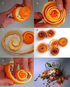 DIY Rose orange peels, what a fantastic idea! Probably give off a nice citrus scent too!
