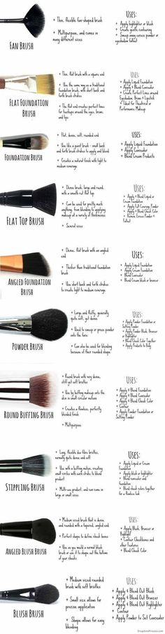 Makeup Brushes 101 | Best Makeup Tutorials And Beauty Tips From The Web | Makeup Tutorials