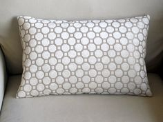 PEARL  Raised Velvet Lumbar pillow cover  12x18 by yiayias on Etsy, $28.00