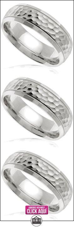 Martillado para hombre de boda de oro blanco de 14K Band (7mm)  ✿ Joyas para hombres especiales - lujo ✿ ▬► Ver oferta: https://comprar.io/goto/B00OSE8JM0