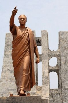 Good morning Africa from the beautiful Kwame Nkrumah mausoleum and memorial park in Accra,Ghana constructed in loving memory of the prominent Ghanaian nationalist leader Dr. Chain Saw Art, Black Royalty, Haitian Art, Visual And Performing Arts, African Sculptures, Black Artwork, Black History Facts, Classic Paintings, Popular Art