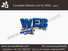 Account4WEB    Web Hosting in Pakistan.: Domain + Hosting + Design = Account4WEB.com