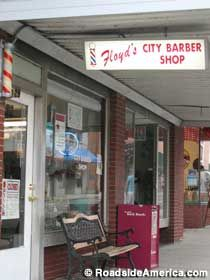 Floyd's City Barber Shop  Mount Airy, North Carolina Floyd, whose real name is Russell Hiatt, has been barbering in Mount Airy since the late 1940s, and was the inspiration for Floyd the barber in The Andy Griffith Show.