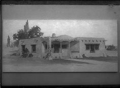 """House plan submitted by Jesse Nusbaum for """"Old-New Contest,"""" 1916, Santa Fe, New Mexico. Palace of the Governors Photo Archives 061517."""