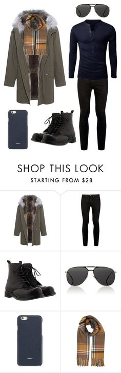 """""""Klaus"""" by ale-pink5 ❤ liked on Polyvore featuring Yves Salomon, Topman, Alexander McQueen, Dior Homme, Valextra, Miss Selfridge, men's fashion and menswear"""