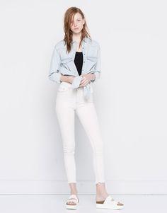 JEANS SKINNY FIT TIRO ALTO - Jeans - Ropa - Mujer - PULL&BEAR España