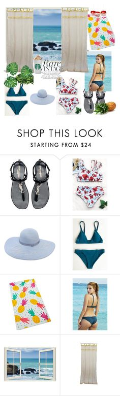 """Cupshe set #1"" by julia-772 ❤ liked on Polyvore featuring Yves Saint Laurent, Eugenia Kim and Martha Stewart"