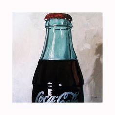 Vintage COCA COLA bottle ooak art ORIGINAL still life by appleart
