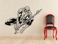 Spiderman adesivi parete vinile adesivi casa affreschi degli interni arte decorazione (170z)