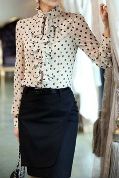 This entry is part of 35 in the series Trendy Work Outfit Ideas24 Gorgeous And Girlish Pencil Skirt Outfits For Work28 Chic And Stylish Fall 2015 Work Looks For Ladies20 Girlish Ruffle Work Outfits For Stylish Ladies23 Stylish And Comfy Work Outfits With Flats27 Not Boring Ladylike Classic Work Attire22 Elegant All White Office Appropriate...