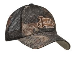 Justin Mossy Oak Mesh Fitted