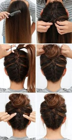 Easy Updos For Long Hair, Easy Hairstyles For Medium Hair, Step By Step Hairstyles, Short Hair Styles Easy, Braids For Long Hair, Quick Hairstyles, Everyday Hairstyles, Medium Hair Styles, Braided Hairstyles