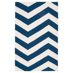 Surya Frontier Dark Blue/White Area Rug