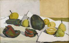 Alfredo Zalce (Mexican 1908-2003), Naturaleza muerta, 1943. Oil on canvas, 41.9 x 66 cm.