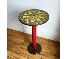 Upcycled Vintage Dartboard Side Table £120 | The Upcycled Home | www.theupcycledhome.co.uk