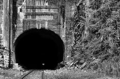 into the darkness, train tunnel, train tunnels, jersey city, jersey city nj, jersey city new jersey, bercen tunnel, long dock company, traintrack,train track,train track,railroad,railroads,nj,new jersey,black and white,bw, valley,