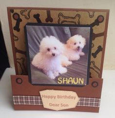 Birthday card for brother gym fan stephs handmade cards dog themed birthday card bookmarktalkfo Image collections