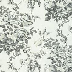rosenholm - charcoal fabric | Designers Guild