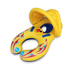 Sale 18% (17.99$) - IPRee™  Baby Swimming Pool Water Float Inflatable Children Safety Ring Seat Canopy