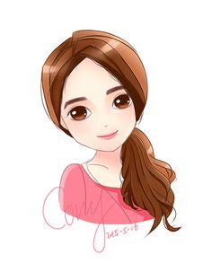Girl Drawing Sketches, Cute Sketches, Pencil Art Drawings, Cute Drawings, Girl Cartoon, Cartoon Art, Cute Cartoon, Kawaii Wallpaper, Disney Wallpaper