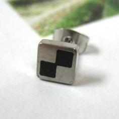 Single Earring Silver - One Size