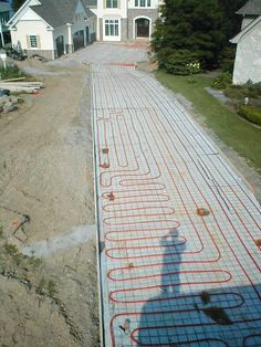 Hydronic Snowmelt System -- Perfect way to prevent ice from forming on your driveway, walkway, STAIRS, or porch!
